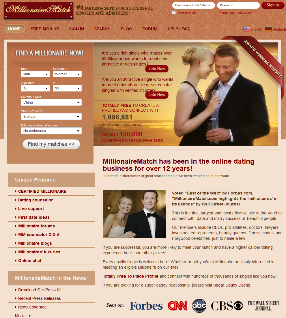 Australian millionaire dating sites